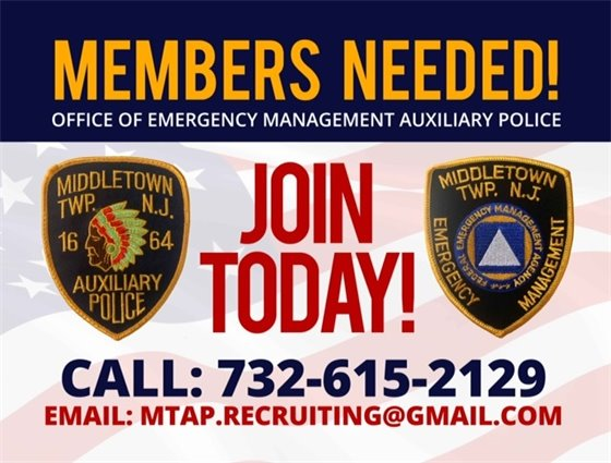 OEM Auxiliary Police Recruitment