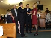 Rick Hibell sworn in on Township Committee.