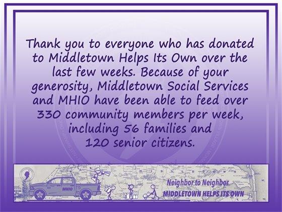 MHIO Food Donations