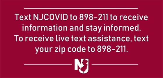 Text COVID-19 to 898-211