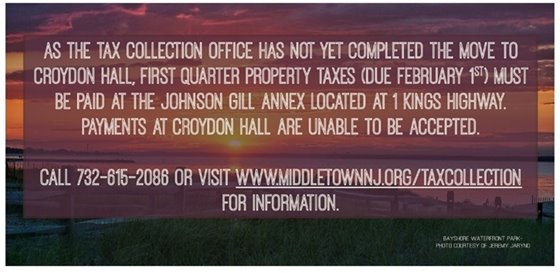 Tax Collection at Johnson Gill Annex