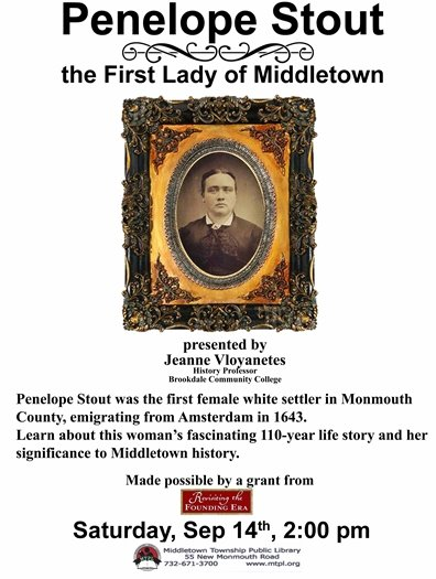 The First Lady of Middletown: Penelope Stout