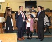 Tony Fiore sworn in as Deputy Mayor.