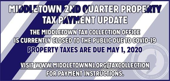 2nd Quarter Property Tax Payment Update
