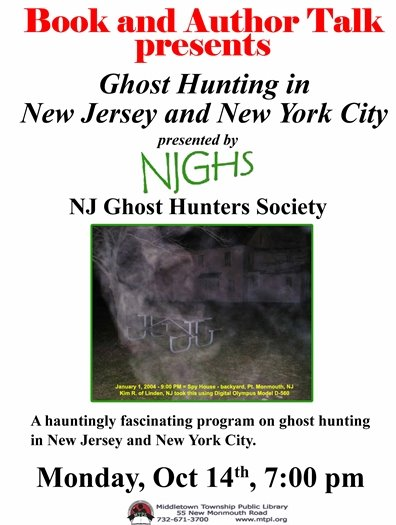MTPL Presents: Ghost Hunting in NJ & NYC