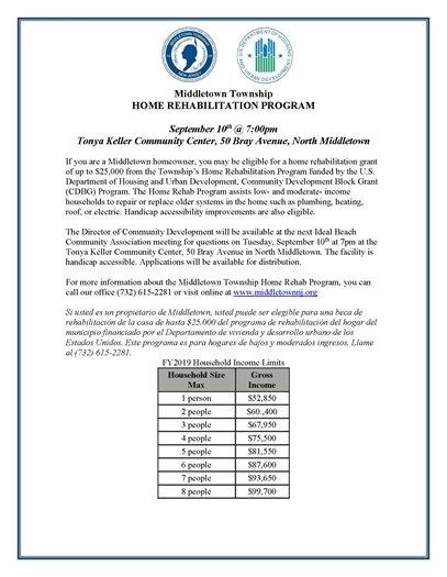 Home Rehabilitation Program Outreach