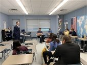 Perry Speaks with HS Students about Local Leadership