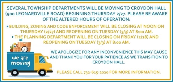 Departments Moving To Croydon Hall