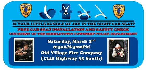 MTPD Car Seat Safety Event 3/2
