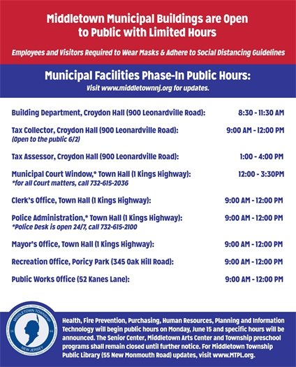Middletown Township Limited Hours