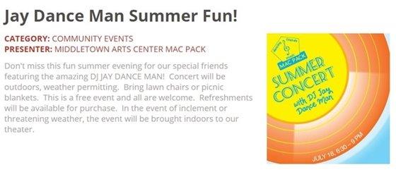 MAC Jay Dance Man Summer Fun!