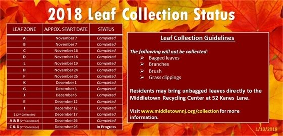 2018 Leaf Collection Update