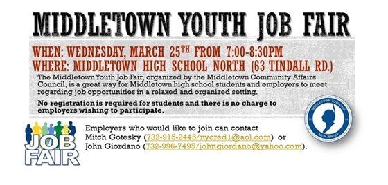 Middletown Youth Job Fair 3/25
