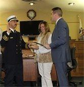 Mayor Tony Perry swore in MTFD Fire Chief Steven Schweizer.