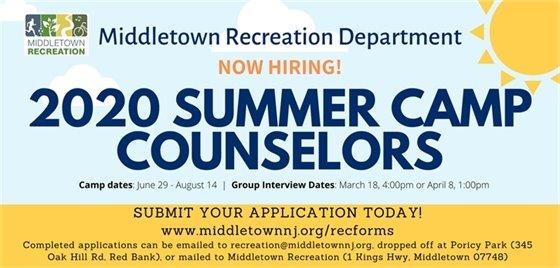 2020 Summer Camp Counselors