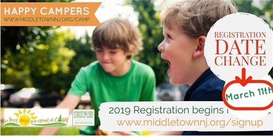 Middletown Recreation 2019 Summer Camp Registration