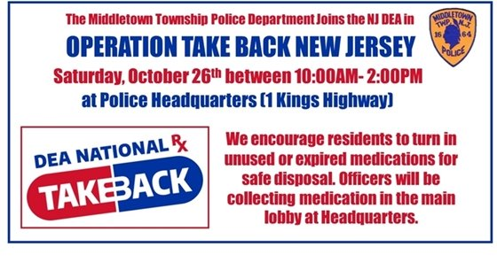 Operation Take Back NJ- October 26th