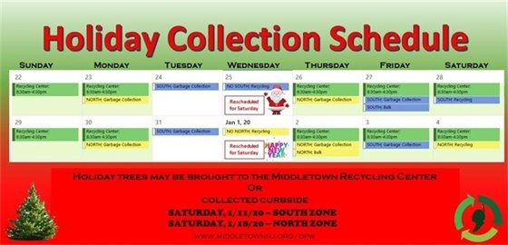 Holiday Collection Schedule