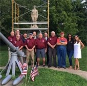 Township Officials, Veterans Affairs Committee Members, and the Sculptor with the Doughboy Monument