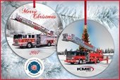 KME Fire Truck Christmas Ornament