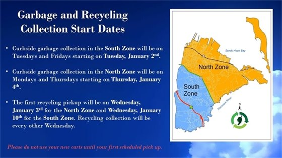 Garbage and Recycling Program Start Dates
