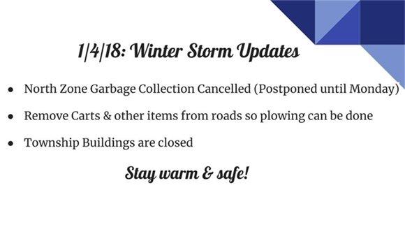 1/4/18: Winter Storm Updates