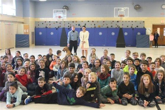 Jax Visits Nutswamp 3rd Graders