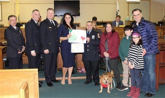Nicholas Manochio receives Lifesaving Award