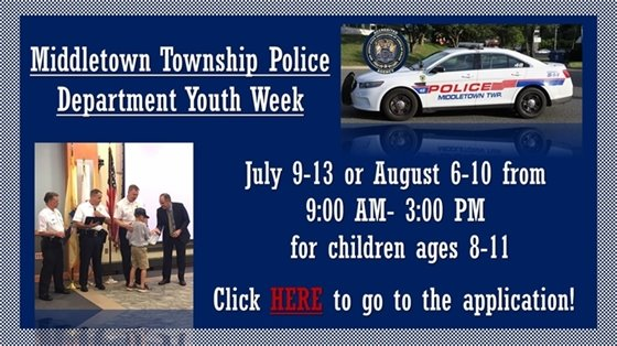 Middletown Township Police Youth Week