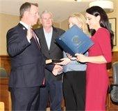Swearing in of Committeeman Rick Hibell