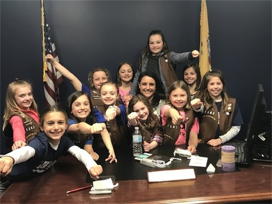 Girls Scouts Visit Town Hall