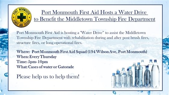 Port Monmouth Water Donation