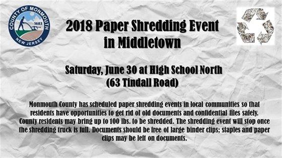 Paper Shredding Event 2018