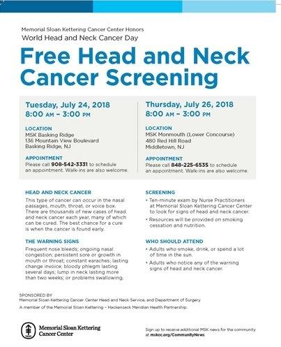 Free Head and Neck Screenings
