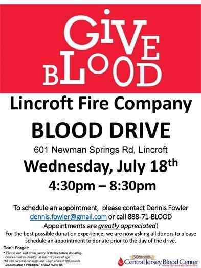 Lincroft Blood Drive