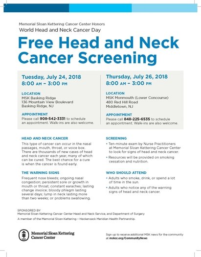 Free Head and Neck Cancer Screening