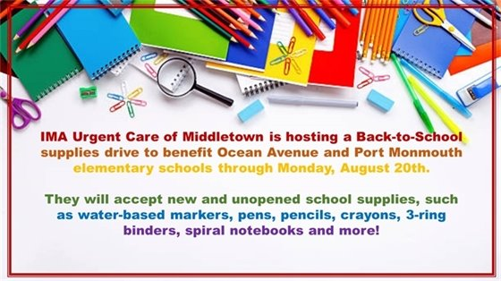 IMA School Supplies Donation