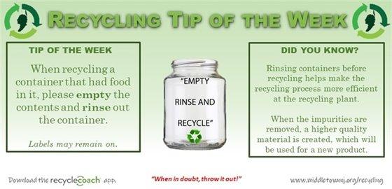 Recycling Tip of the Week: Week 1