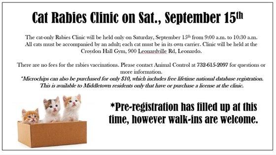 Cat Rabies Clinic