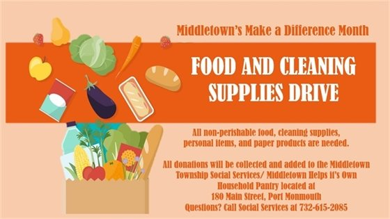 Food and Cleaning Supplies Drive