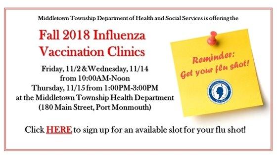 Fall 2018 Flu Clinics