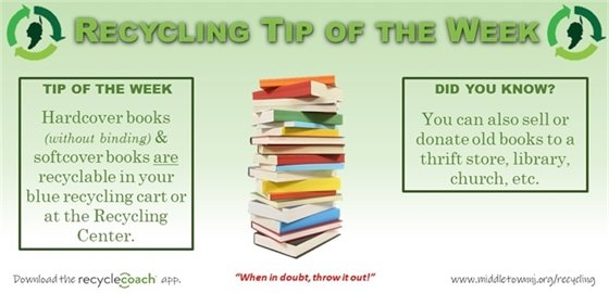 Recycling Tip of the Week- Books