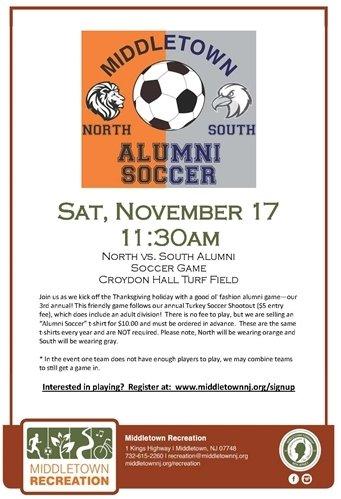 North vs. South Alumni Soccer Game
