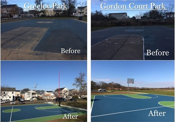 Greeley Park and Gordon Court Before and After Pics