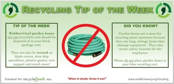 Recycling Tip- Hoses