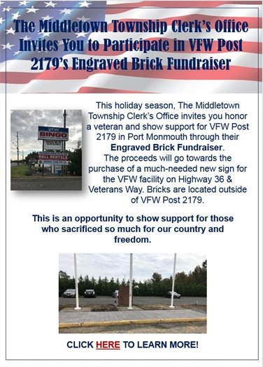 VFW Post 2179 Engraved Brick Fundraiser