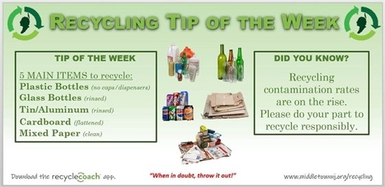 Recycling Tip- Empty, Rinse and Recycle