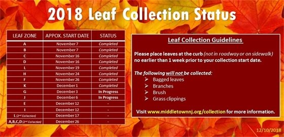 2018 Fall Leaf Collection Update