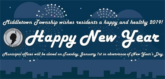 Happy New Year 2019- Office Closed Tuesday, Jan. 1st