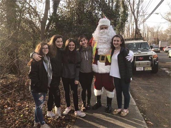 Crossing Guard Santa